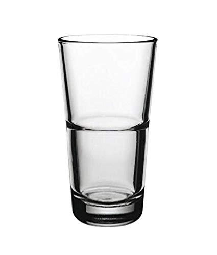 Topkapi 250.656 Longdrink Lot de 6 Verres en Verre Brooklyn 36 cl pour Cocktail, Latte Macchiato, Longdrink, Mojito, Saft, l'eau, Hauteur ~ 14,5 cm