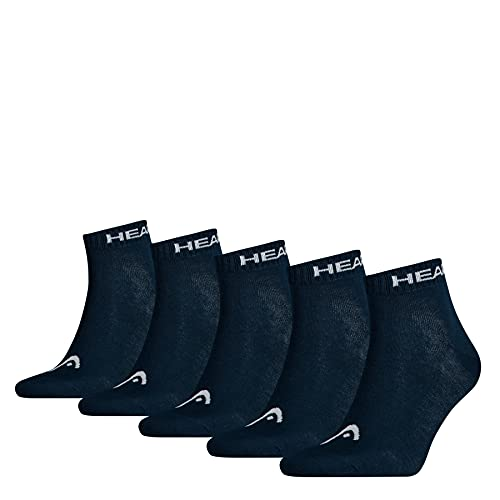 HEAD Unisex Quarter Socken, Navy, 43/46