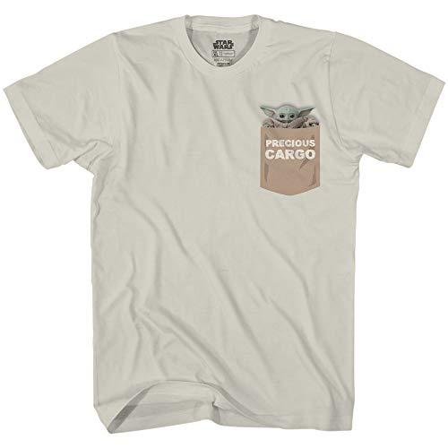 Star Wars The Mandalorian Baby Yoda Precious Cargo Camiseta oficial para adulto - dorado - XX-Large