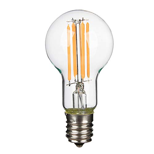 共同照明 フィラメント LED電球 E17 60W形相当 電球色 クリア電球 GT-CB-6W-E17 エジソン 一般電球 600lm ミニボール形 シャンデリア用 広配光 レトロ インテリア 間接照明 雰囲気 おしゃれ 北欧 (1個入り)
