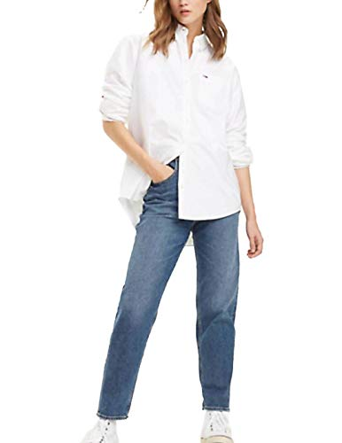 Tommy Jeans Tjw Tommy Classics Shirt Camisa, Blanco (Classic White 100), Large para Mujer