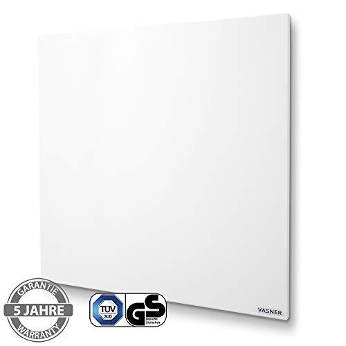 VASNER Citara Infrarotheizung 300 Watt, 60 x 40 cm, weiß Metall, Elektroheizung Wand- Deckenmontage, patentierte Halterung, IP44 Schutz Bad Heizpaneel