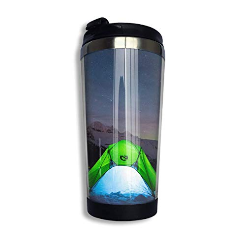 Coffee Thermos Cup Camp Tent Stainless Steel Travel Mug Cup Water Bottle