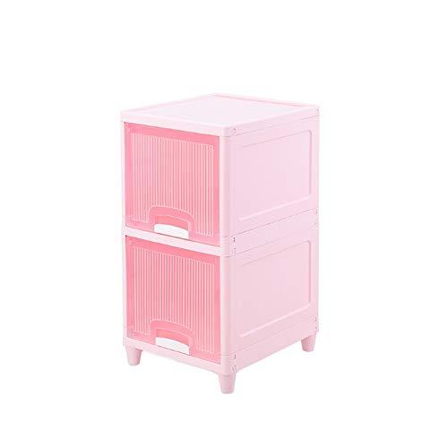 Lagerregal FEI, Mehrlagiger Schließfachplastikschmaler Winkelspeicherregal Multifunktionsküchenbadezimmerspeichergestell (Farbe : Pink, größe : 38 * 33 * 62.5CM)