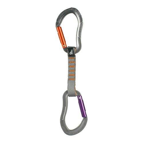 Fusion Climb 11 cm Quickdraw avec Zoom Techno Violet Straight Gate Mousqueton/Techno Zoom Orange Droite Gate Mousqueton