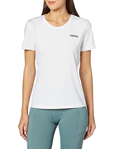 adidas W D2m Solid Tee T-Shirt Damen M Weiß/Schwarz