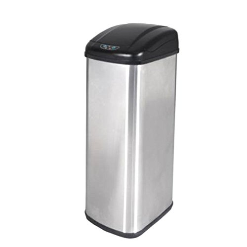 BestOffice 13 Gallon Touch-Free Sensor Automatic Stainless-Steel Trash Can Kitchen