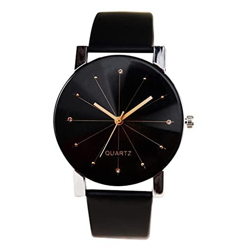 Women Watches, Womens Analog Quartz Round Dial Leather Strap Unisex Watches Lover Wristwatch Teen Girls Fashion Watches