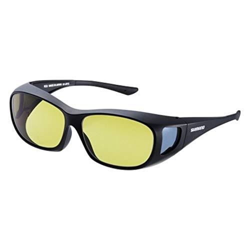 シマノ(SHIMANO) 釣り用 メガネの上からかける偏光サングラス オーバーグラス ブラック/イエロー UJ-201S