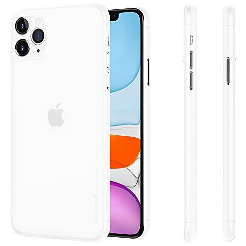 memumi Delgado Funda Compatible con iPhone 11 Pro Max Ultra Slim 0.3mm Carcasa para iPhone 11 Pro Max Phone Case Funda con Diseño Minimalista Anti-Rasguño y Resistente Huellas (Blanco Mate Translúcido)