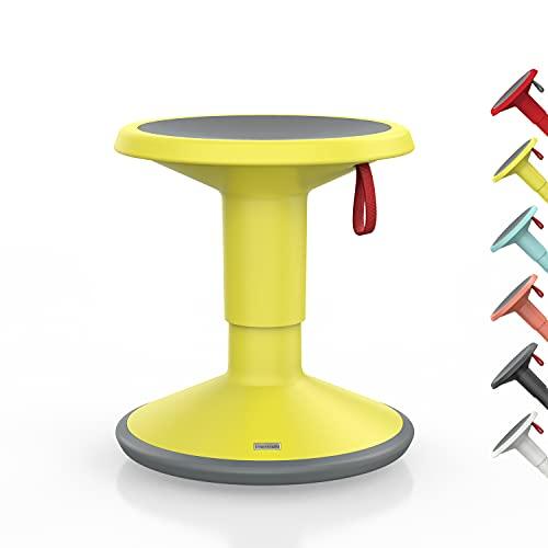 Interstuhl UPis1 Junior für Kinder - ergonomischer Sitzhocker – Premium Hocker höhenverstellbar und drehbar - Drehhocker für rückenfreundliches Sitzen (Junior Edition, Gelb)