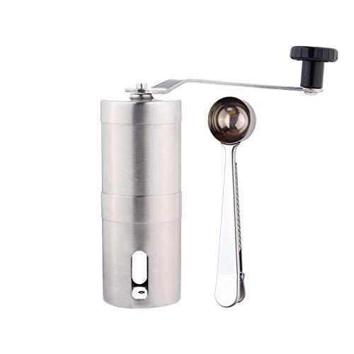 GWCLEO Molinillo de café de Acero Inoxidable, Compatible con AeroPress,con Moledores Ajustable de...