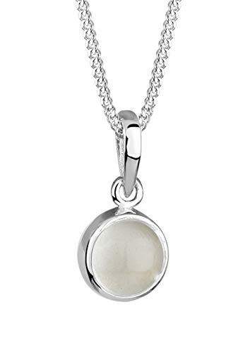 Elli Halskette Mondstein Gemstone Natur 925 Sterling Silber