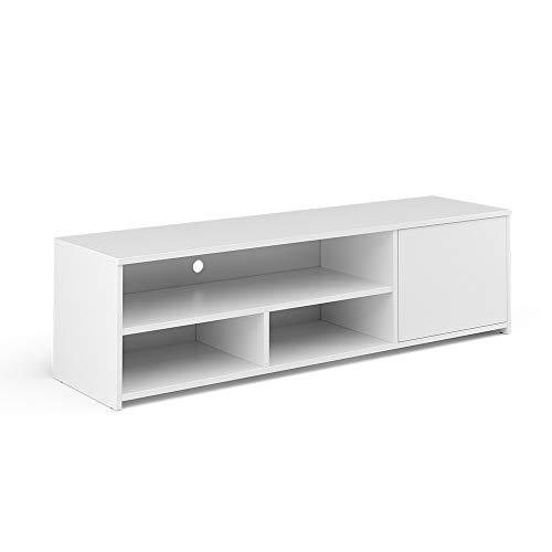 Vicco Lowboard TV-Board Fernsehschrank Gino Fernsehtisch TV-Schrank (Weiß)