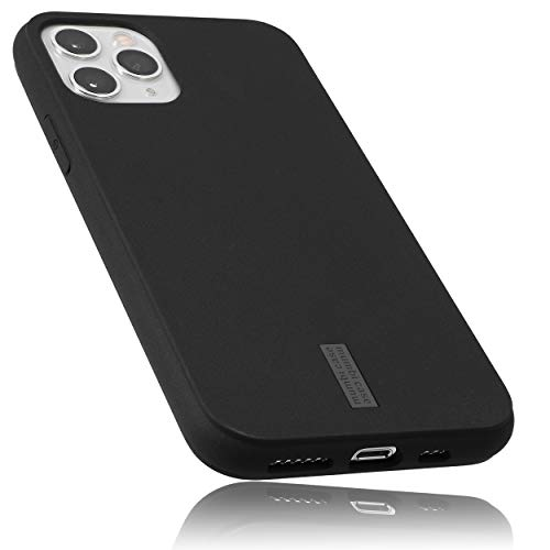mumbi Hülle kompatibel mit iPhone 11 Pro Handy Hülle Handyhülle, schwarz mit grauem Streifen