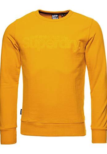 Superdry Homme Sweat bouclé sur l'envers en suédine Core Logo Doré Upstate XL