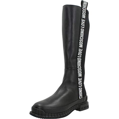 Love Moschino Bottes noires avec bande latérale logée - Noir - Noir , 35 EU EU