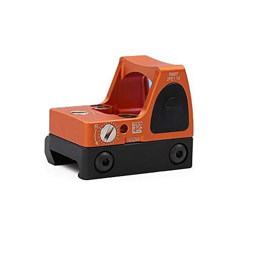Haomingxing Einstellbarer LED roter Punkt,Red Dot Sight RMR 3-25 MOA Reflexvisier Einstellbare Helligkeit Pistolen-Bereich mit Berg(Orange)
