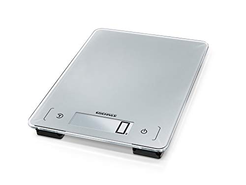 Soehnle Aqua Proof, Dishwasher Proof and Waterproof Digital Kitchen Scale - Silver
