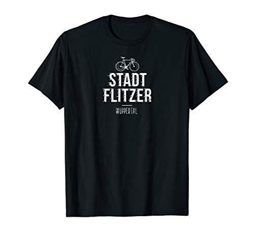 Lustiges Stadt Fahrrad T-Shirt Wuppertal Geschenk