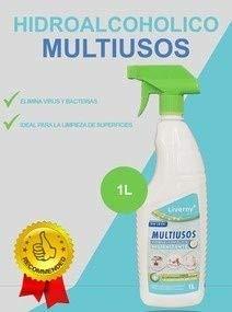 CAJA DE 8 u MULTIUSOS HIDROALCOHOLICO DE SECADO INSTANTANEO PULVERIZADO 1L