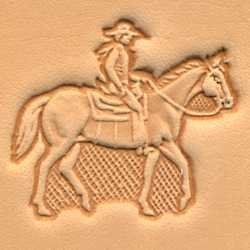 Tandy Leather 3D Horse & Rider 3D Stamp 88314-00 by Tandy Leather