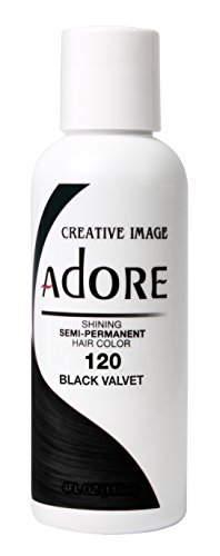 Adore Semi-Permanent Haircolor #120 Black Velvet 4 Ounce (118ml)