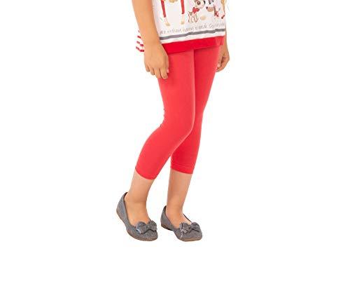 BeLady Meisjes 3/4 Leggings van katoen ondoorzichtig Capri Maat 92 98 104 110 116 122 128 134 140 146 152 cm vele kleuren Rood Blauw Grijs