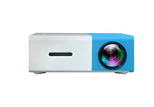 YG300 Proyector HD, ELEPHAS 1080P LCD Video proyector Full HD con 2500 lúmenes, Cine en casa con una Pantalla de 10~60 Pulgadas, Compatible con HDMI VGA AV USB Micro SD TV Box, Blanco