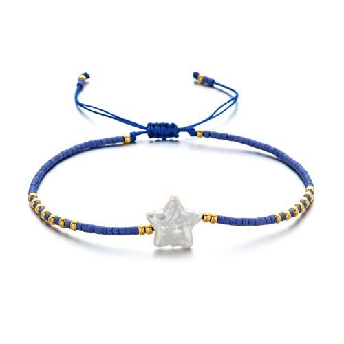 XHJLNNY XINHEJULN 16-21 cm Moda Pulsera de la Perla de Agua Dulce Natural de la Moda Pulsera Femenina Hecho a Mano Pulsera Snake Scorpion Jewelry Duradero. (Color : J)