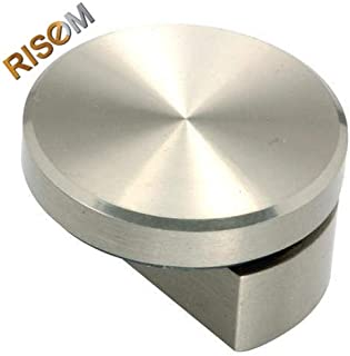 oreo RiseOm 6 mm Stainless Steel Half Round Mirror Holder Bracket (Silver) - Pack of 10
