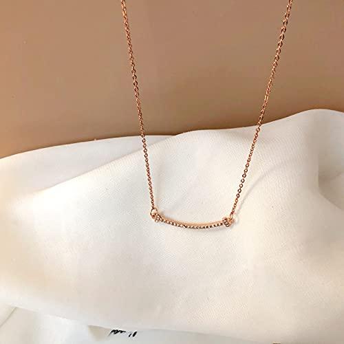 DGSDFGAH Collar De Mujer Collar Colgante Lindo De Diamantes De Imitación Equilibrados para Mujer Cadena De Clavícula De Aleación Simple Joyería De Verano Accesorios De Moda