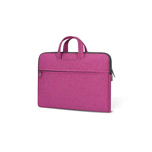 Aktenschränke Notebook-Taschen Roller Expanding Dateien und Mappen Personal Organizer-Aktenkoffer Tablet Sleeves (Color : Purple, Size : 36 × 26 × 4cm)