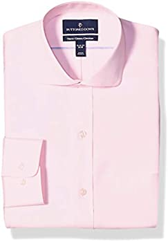Buttoned Down Men's Classic Fit Cutaway-Collar Solid Pinpoint Dress Shirt