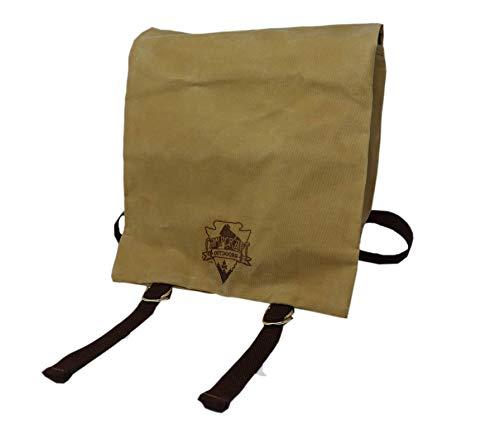 Woodcraft Haversack, Bushcraft Bag, Waxed Canvas Bag, Outdoor Survival Kit, Military Haversack