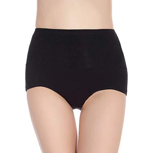 HUABEI Postpartum High Waist Briefs Women's Underwear Cotton Large Size Cotton Underwear Ladies Sexy briefsA-1blackA-1XXXL MYJ