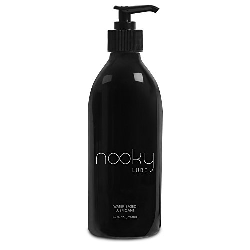 Lubricant - Personal Water Based Lube for Men, Women - Nooky Lubes 32oz™ Natural Liquid Silk lubricants Made in USA - 100% Unconditional Money Back, No Risk Guarantee …