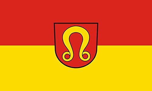 Unbekannt magFlags Tisch-Fahne/Tisch-Flagge: Nufringen 15x25cm inkl. Tisch-Ständer