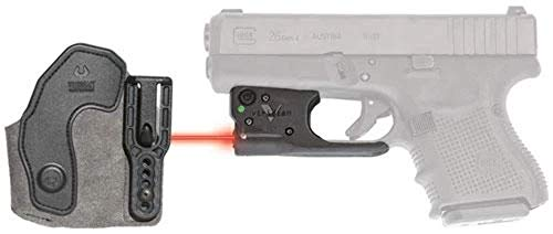 VIRIDIAN WEAPON TECHNOLOGIES, Reactor 5 Gen II Red Laser, 17/19/22/23/25/26/27/28/32/33/35/36/38/39 with ECR Instant On Holster, Black