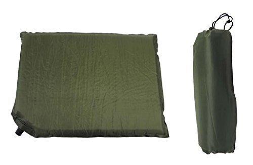 Inet-Trades selbstaufblasendes Sitzkissen Thermokissen Kissen Oliv-grün 42x31x3cm