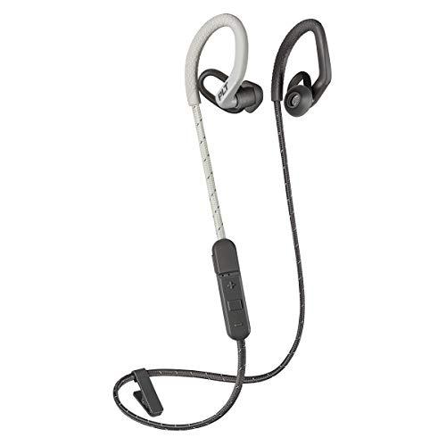 Plantronics BackBeat FIT 350 Bluetooth - Écouteurs sportifs sans fil, intra-auriculaires et contour d'oreille, gris-os