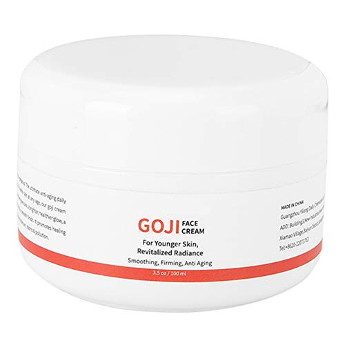 Crema facial hidratante de bayas de Goji, hidratante facial antioxidante y antiedad Crema antiarrugas revitalizante con factores hidratantes 100 ml