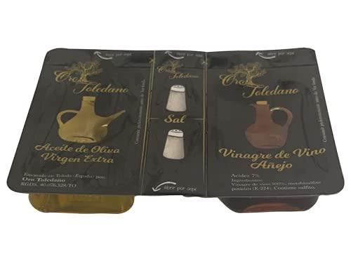 Set de aliño para ensalada   Aceite de oliva virgen extra + Vinagre + Sal   PRODUCTOEXTRA