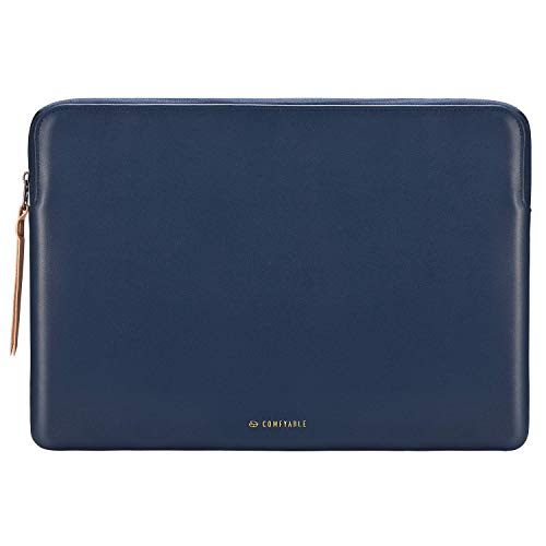 Comfyable Slim Protective Laptop Sleeve 13-13.3 inch for MacBook Pro & MacBook Air, PU Leather Bag Waterproof Cover Notebook Computer Case for Mac,...