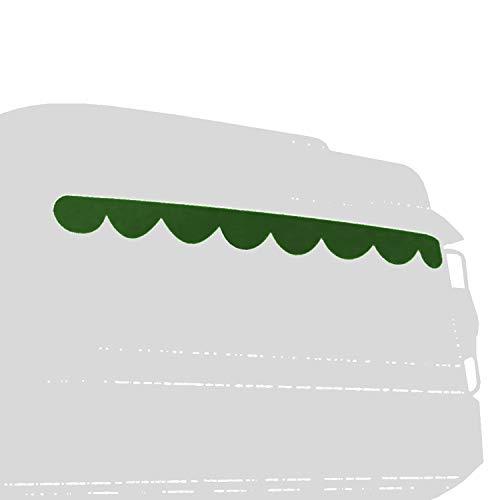 Lagerräumung - Universal LKW Truck Gardinenkante 230x20cm Innenausstattung Grün/Weiß, Vorhang Gardine Frontscheibenborde