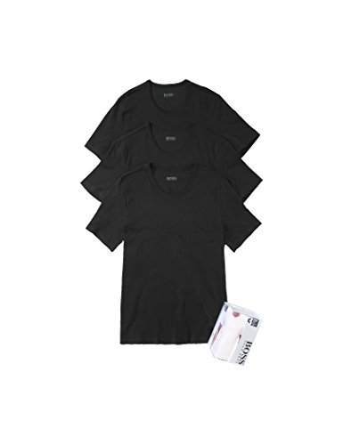 BOSS T-Shirt RN 3p Co Camiseta para Hombre, Negro (Black), XX-Large, pack de 3