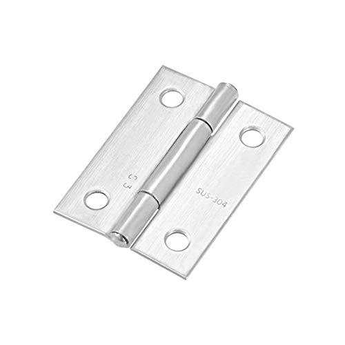 Genrics DIY Hardware Bisagras plateadas para puerta de armario, 4 unidades, cromo cepillado, metal, 1.97' x 1.5' (L*W) 12pcs