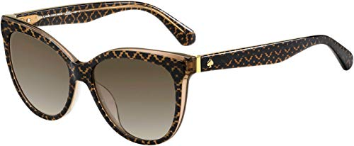 Daesha/S 0305/HA 56 MM Brown/Brown Gradient Cat Eye Sunglasses for Women + FREE Complimentary Eyewear Kit