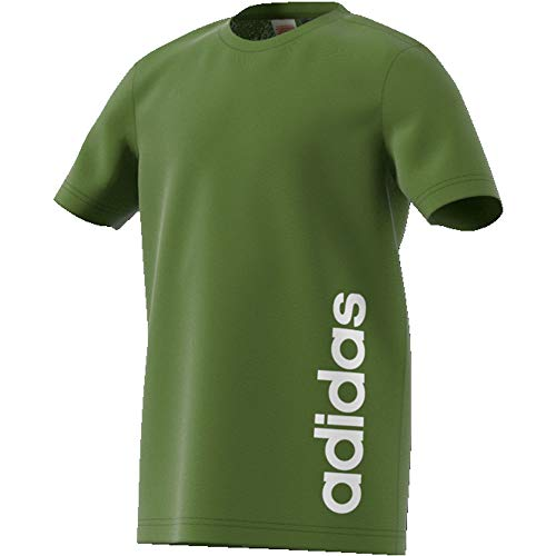 adidas Performance Linear T-Shirt Kinder Oliv/Weiss, 128