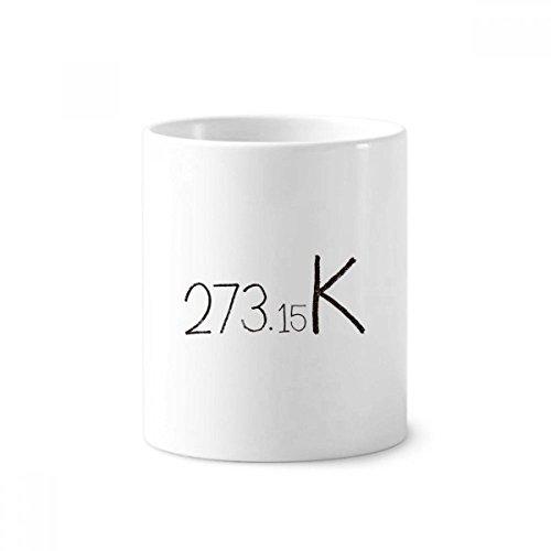 DIYthinker Kenntnisse sichergestellt Einheit Kelvin Keramik Zahnbürste Stifthalter Tasse Weiß Cup 350ml Geschenk 9.6cm x 8.2cm hoch Durchmesser
